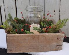 Hey, I found this really awesome Etsy listing at https://www.etsy.com/listing/213468682/reclaimed-wooden-box-w-candle-in-canning