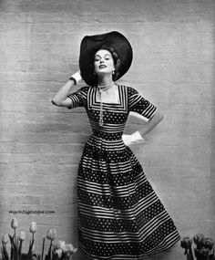 Dress by Mary Black 1949  Sripes and Dots