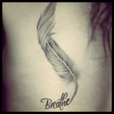 Tatto Breathe Feather • #feather #tatto #breathe #me #tatuaje #pluma