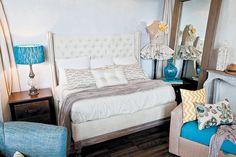 Colores turquesa y marrón para la habitación principal. #Decoration #Master #Room #Home