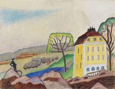 Gabriele Münter (1877-1962) Murnau Landschaft mit gelbem Haus (1916) oil on canvas 41 x 52,5 cm