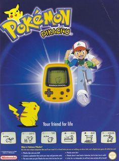 Ad for the Pokémon Pikachu Pikachu, Gaming, Ads, Retro, Life, Videogames, Game, Retro Illustration