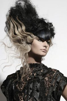 Voluminous Black and Blonde Beehive | Eccentric - Fashion - Portrait - Editorial - Photography