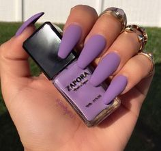 Coffin nails lavender nails in 2019 coffin shape nails acryl Coffin Shape Nails Acrylics, Best Acrylic Nails, Matte Nails, Coffin Nails, Polish Nails, Lavender Nail Polish, Lavender Nails, Lavender Color, Dope Nails