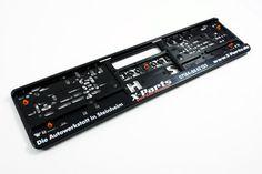 X-Parts PERFORMANCE Autowerkstatt Kennzeichenhalter 2er Set Details
