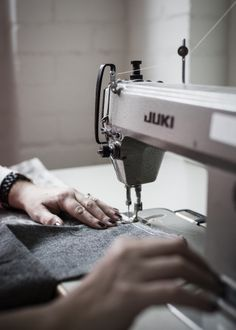 Sewing on the retro Juki machine - works a charm