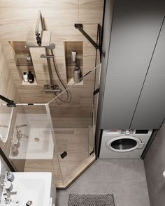Washroom Design, Toilet Design, Bathroom Design Luxury, Laundry Room Design, Home Room Design, House Design, Wc Design, Small Bathroom Layout, Tiny Bathrooms