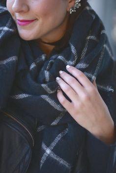 Zara Blanket Scarf and a @baublebar ear cuff via @mystylevita