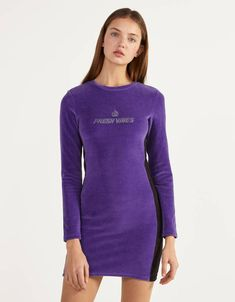 Women's Long and Short Dresses - Spring/Summer 2020 Collection Bershka Collection, Flare, Skinny, Puffer Jackets, Ultra Violet, Her Style, Short Dresses, Women's Dresses, Fashion News