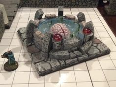 The Elder Brain, mad with Hirst Arts molds, paint and a little sculpting.  It was used in an adventure for our D&D group.