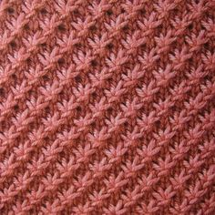 Seriously, I love knitting.  This is the star stitch - it's knit!  WUUUUUT you say?