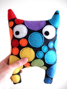 Softie Plush Doll Colorful  Handmade Stuffed Toy for by cronopia6, $24.00