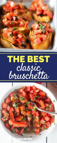 This easy bruschetta recipe is made with tomatoes, garlic, fresh basil and balsamic. Make it ahead of time for all your parties!