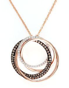 50121d563 Effy Espresso Diamond And 14K Rose Gold Circle Pendant Necklace on shopstyle.com  Circle Pendant
