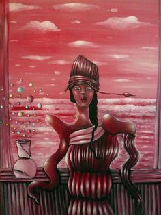 "VWL/ASIA/006  (Paris 2013 ""Vipassana"")-Acrylic on canvas/Acrylique sur toile/Acrylico sobre tela (116X89cm)"