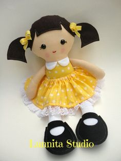 Handmade cloth doll... Eco-Friendly Doll... sweet by lunnitastudio