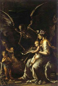 Salvator Rosa - Human Frailty (1656)