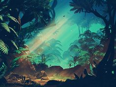 Stylized Jungle by Mikael Gustafsson