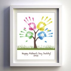Fathers Day Gift  DIY Child's Handprint Tree by FancyPrintsforHome, $3.00