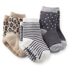 Carter's 3-Pack Print Socks