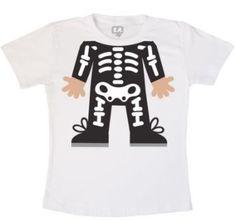 Body ou Camisetinha - Corpinho Esqueleto