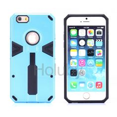 Dual Color Detachable 2 in 1 Hybrid TPU+ PC Back Case for iPhone 6 Plus/ iPhone 6S Plus - Blue