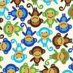 Urban Zoologie Monkeys Slicker (Laminated Cotton) KAUF_SLICKER_MONKEYS
