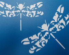 Pájaro florecer plantilla por kraftkutz en Etsy