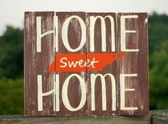 WoodenBlock Plaque : Home Sweet Home Tennessee Pallet