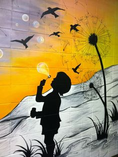 Part of a hand painted mural I completed this summer.