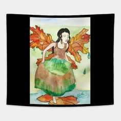 Tapestries by fairychamber Whimsical Art, Wall Tapestry, Illustration Art, Tapestries, Halloween, Artwork, Totes, Prints, Painting