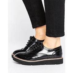 London Rebel Brogue Flat Eva Shoe