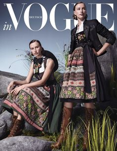 Andreas Ortner for Vogue Germany x Lodenfrey with Valeria and Caoimhin Fashion Models, High Fashion, Fashion Show, Mode Editorials, Fashion Editorials, Dirndl Dress, Vogue, Fashion Couple, Glamour Photography