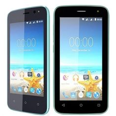 Maxwest Nitro 4 4G 4 Touch Quad-Core 1.2GHz 512MB 4GB Unlocked Quad Band GSM Dual-SIM Smartphone Android 5.1 (Blue)