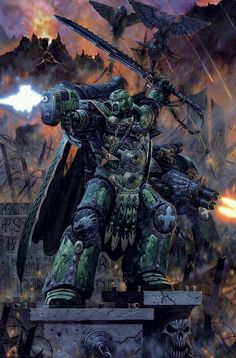 The Salamanders are one of the Loyalist First Founding Chapters of Space Marines. They originally served as the Imperium's XVIII Space Marine Legion during the Great Crusade and the Horus Heresy. Their homeworld is the volcanic Death World of Nocturne. successor chapters - Black Dragons, Storm Giants (Allegedly)