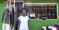 Aruby, who lives in #Malawi, is a #microcredit client of Microloan Foundation who runs a hair #salon where she typically serves more than four clients per day.  She has recently widened her client base by also selling used clothing in front of her salon.