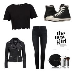"""""""black"""" by ed83350 on Polyvore featuring Ted Baker, Converse and Chanel"""