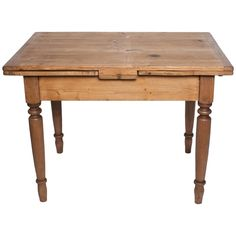 Pine and Beechwood Draw-Leaf Table | From a unique collection of antique and modern farm tables at https://www.1stdibs.com/furniture/tables/farm-tables/