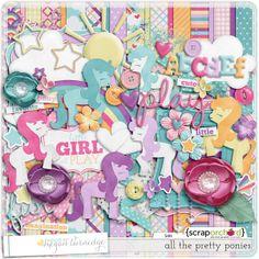All the Pretty Ponies Digital Scrapbook Kit by Megan Turnidge
