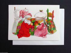 Vintage Unused Xmas Greeting Card Santa Claus His Better Half Praying | eBay