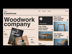 Website for the family woodwork company by Anton Anoshko for brandnew on Dribbble Web Design Studio, Design Ios, Interface Design, Page Design, Flat Design, User Interface, Report Design, Best Website Design, Website Design Inspiration