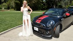 Kennedy Summers with Mini John Cooper Playboy Enterprises, The Playboy Club, Walton Street, John Cooper, Free Girl, Prom Dresses, Formal Dresses, Night Club, White Dress