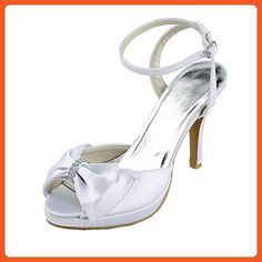 Kevin Fashion MZ1230 Women's Slingback Ivory Satin Bridal Wedding Formal Party Evening Prom Sandals 11 M US - Sandals for women (*Amazon Partner-Link)