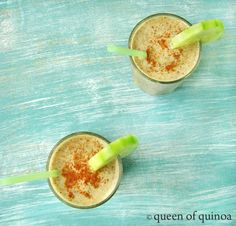 Pear and Cucumber Smoothie_Queen of Quinoa