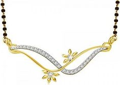 Wavey Diamond Gold Mangalsutra Made in Real Diamond and 18kt Gold.Customize As per Your Style and Budget.Get Exact Diamond Quality and weight.