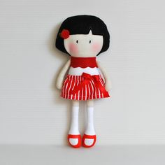 "My Teeny-Tiny Dolls® - 11"" Handmade Fashion Dolls Made from cotton and wool blend felt fabrics"