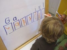 A simple name writing activity to do with preschoolers   Teach Preschool