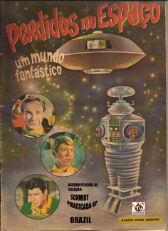 This figurine of the album Lost in Space series. I was nine, I will post a page at a time, to assemble the album . good trip in memory! Space Tv Series, Space Tv Shows, Sci Fi Tv Series, Vintage Robots, Vintage Cartoon, Cartoon Tv, Fiction Movies, Sci Fi Movies, Science Fiction