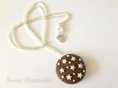 Sweet Necklace Pan di Stelle fimo polymer clay by SweetHearticles