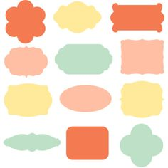Digital Labels // Sprinkles // Yellow, Mint, Coral // png files // 300... ($5) ❤ liked on Polyvore